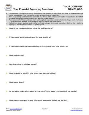 Pondering Questions Coaching Tool Page 1
