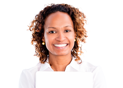 Woman smiling about Reader Discounts