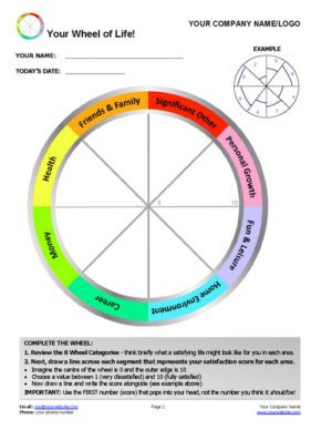 Free Wheel of Life Template!