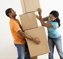 Eustress shown by man carrying many boxes