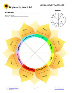 Brighten Up Your Life Coaching Program Exercise Page 1