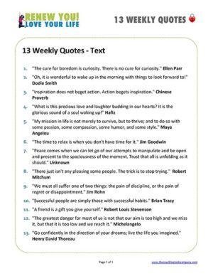Quotes Text Sheet for Coaching Program
