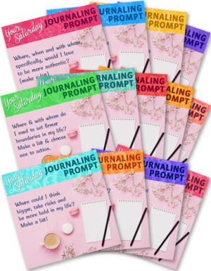 13 Graphics - Each with a Journaling Prompt to Share Weekly on Saturdays (Q3)