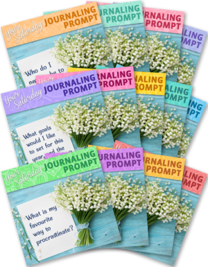13 Graphics - Each with a Journaling Prompt to Share Weekly on Saturdays (Q1)