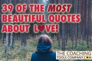 Quotes about Love Image with woman staring into forest
