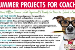 Happy Dog with Pencil in Mouth doing Summer Projects
