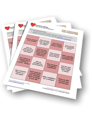 Free Kindness Tool Bingo and Funsheet