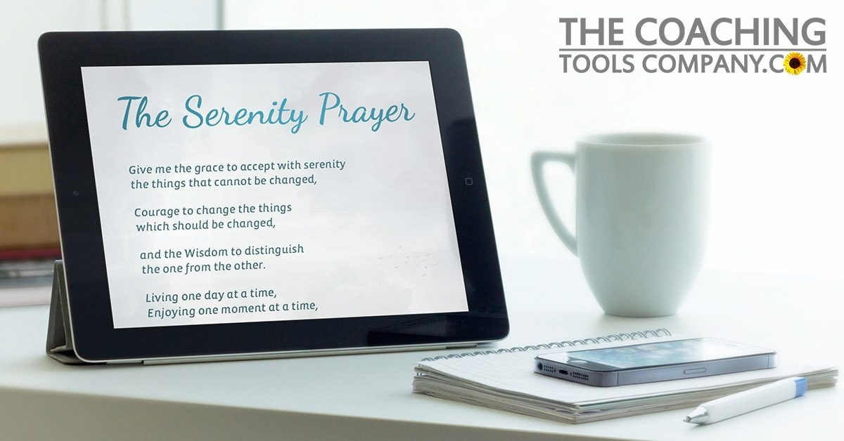 Serenity Prayer on Ipad next to Window for COVID-19 Care Package for Coaches