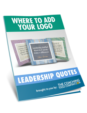 Where to Add Your Logo 3D Image for Leadership Quotes